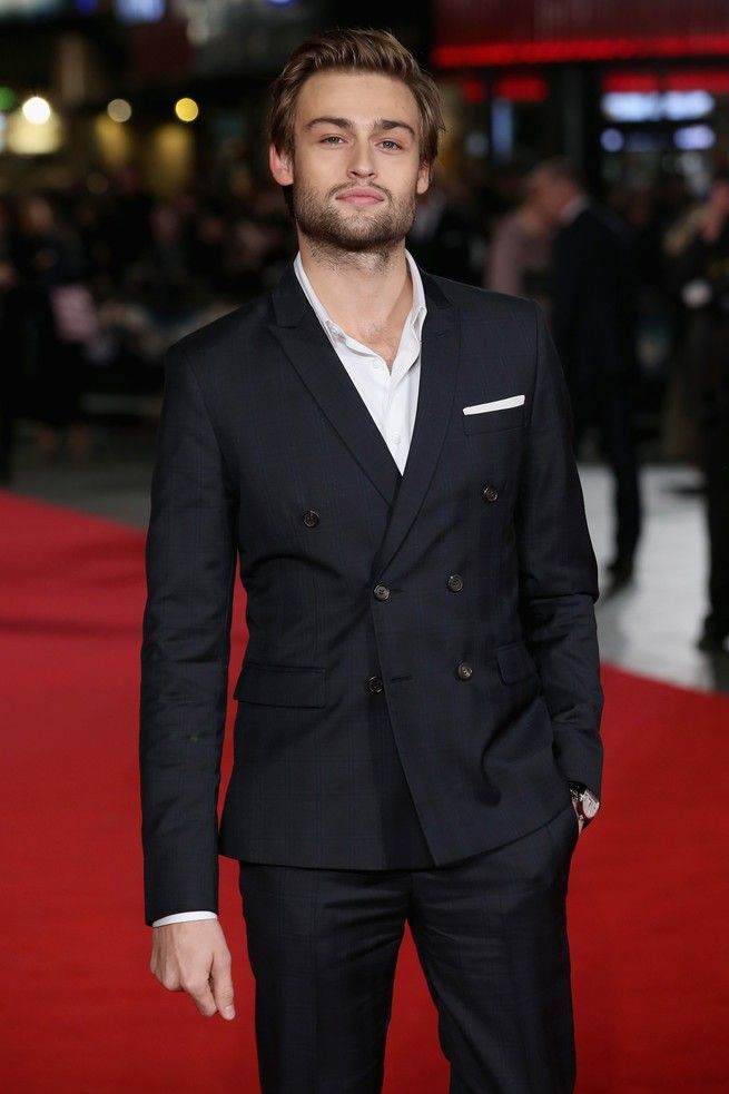 Douglas Booth photographed at the European premiere of Pride and Prejudice and Zombies at Vue West End on February 1, 2016 in London, England.