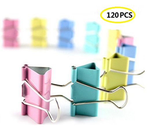 Metal Binder Clips Colored Paper Clamps Documents Folders Home Office Supplies #OfficeSupplies