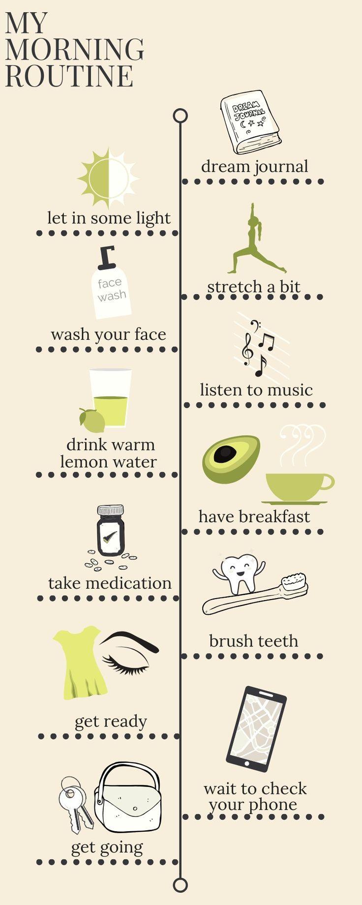 Gesunde und glückliche Morgenroutine