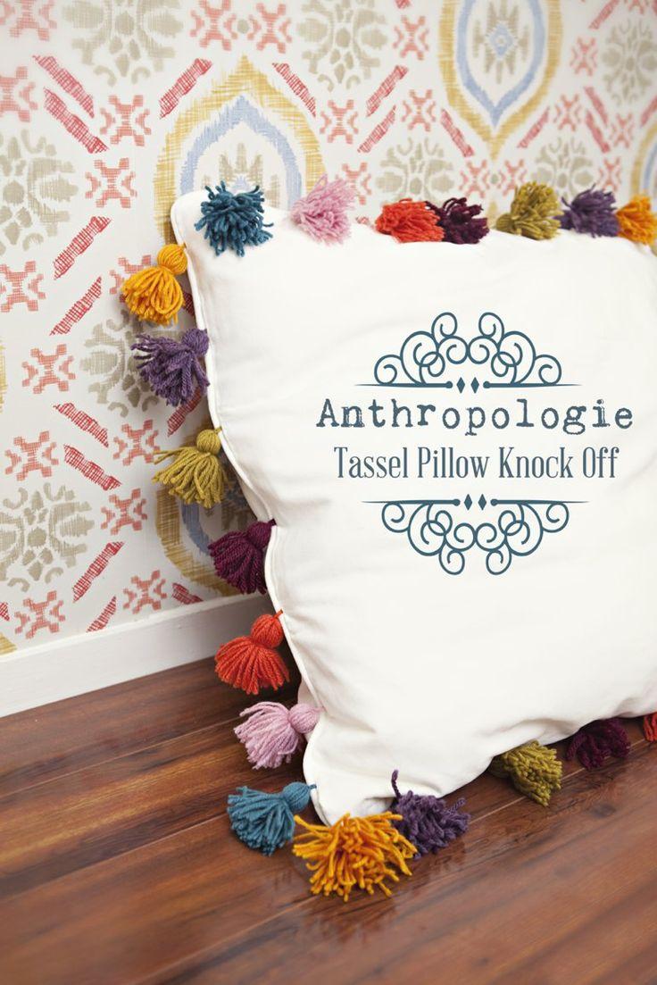 Anthropologie Tassel Pillow Knock-Off