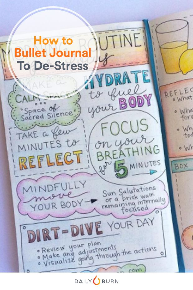 Trending on Instagram and Pinterest, a bullet journal is the DIY way to improve focus and reduce stress. Here's how to start your own — and stick with it.  via @dailyburn