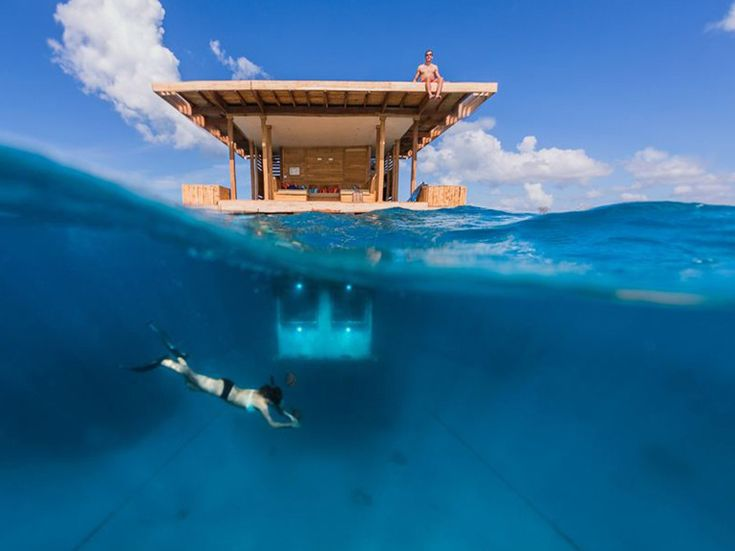 Genberg Underwater Hotels, a Swedish company, has unveiled their latest underwater accommodation at their Manta Resort on Pemba Island, off the coast of East Africa. Separated from the mainland of Tanzania and Zanzibar for decades, the Island is virtually untouched by development.