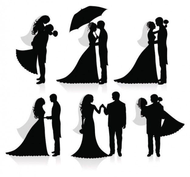 Wedding Black Silhouettes Set