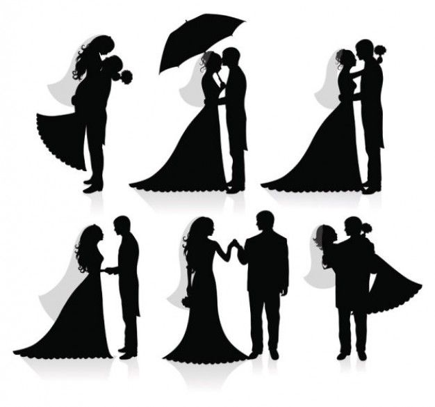 wedding silhouette | wedding silhouette vector