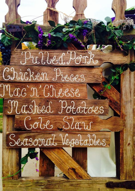 Best 25 Rustic Wedding Menu Ideas On Pinterest Country
