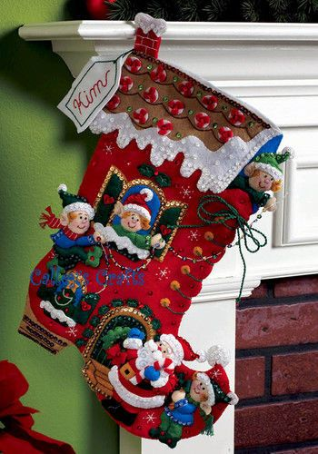 8 best Christmas Stockings my Mom has made images on Pinterest