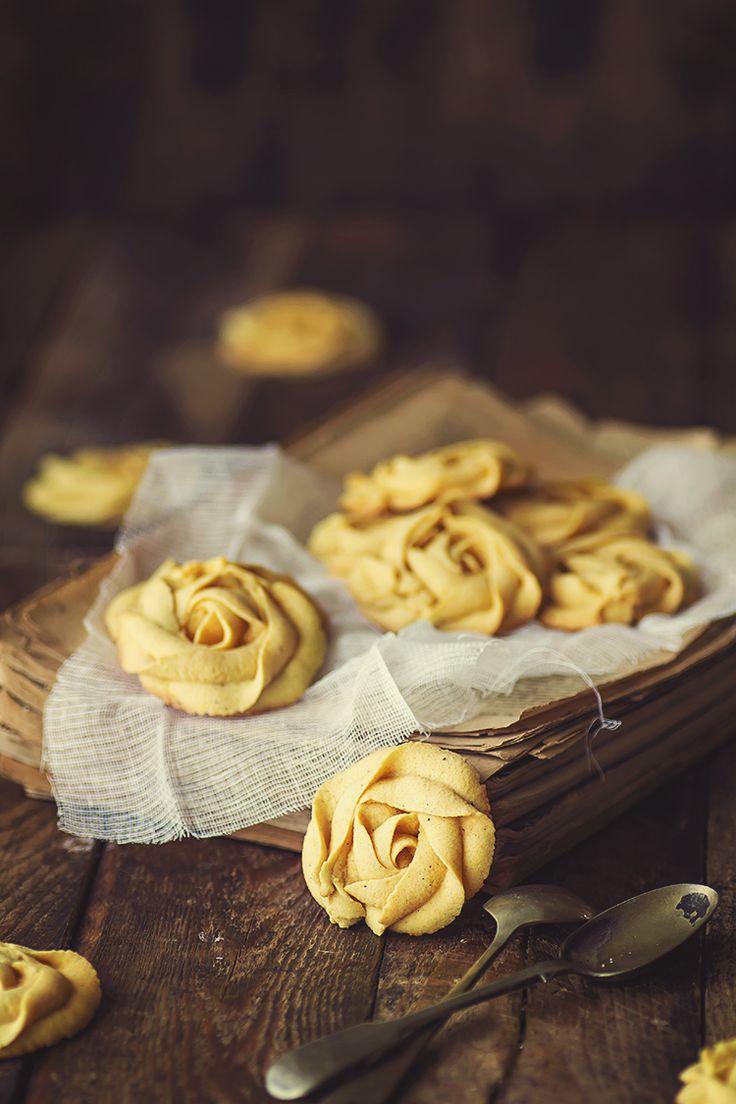 """Galletas """"Rosas"""" de calabaza"""
