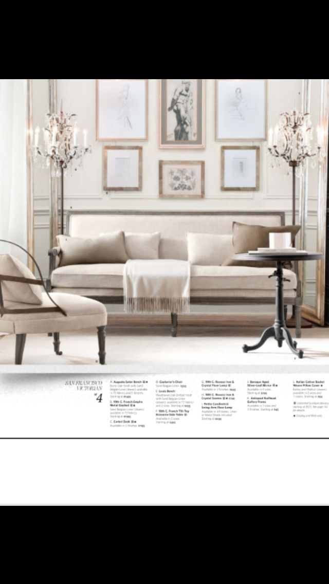 169 best restoration hardware images on pinterest canapes couches and interior decorating - Small spaces restoration hardware set ...