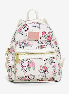 ee8be3c1fd1 Loungefly Disney The Aristocats Marie Floral Mini Backpack