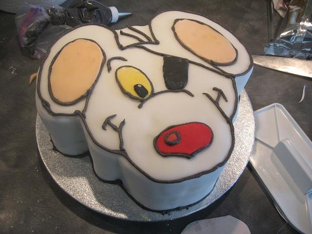 Danger mouse cake by Kellie_W, via Flickr