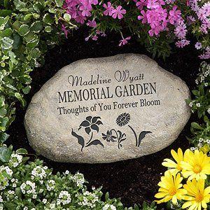 Amazon.com : Personalized Memorial Garden Stone : Outdoor Decorative Stones : Patio, Lawn & Garden