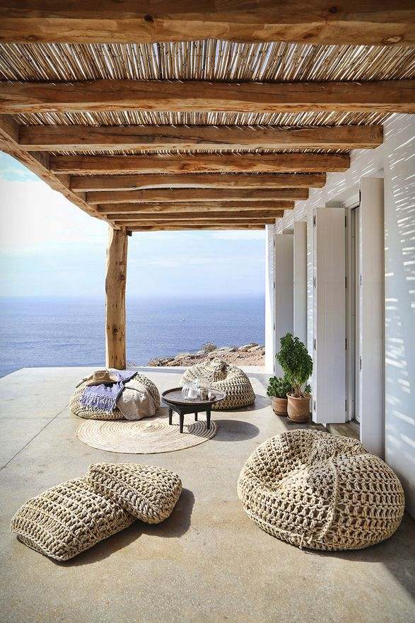 This stunning Mediterranean house is located on the Greek island of Syros. Designed by Block722  (an architecture and interior design studio based in Athens, Greece)  this summer house was adapted to the steep, dramatic topography and is  position
