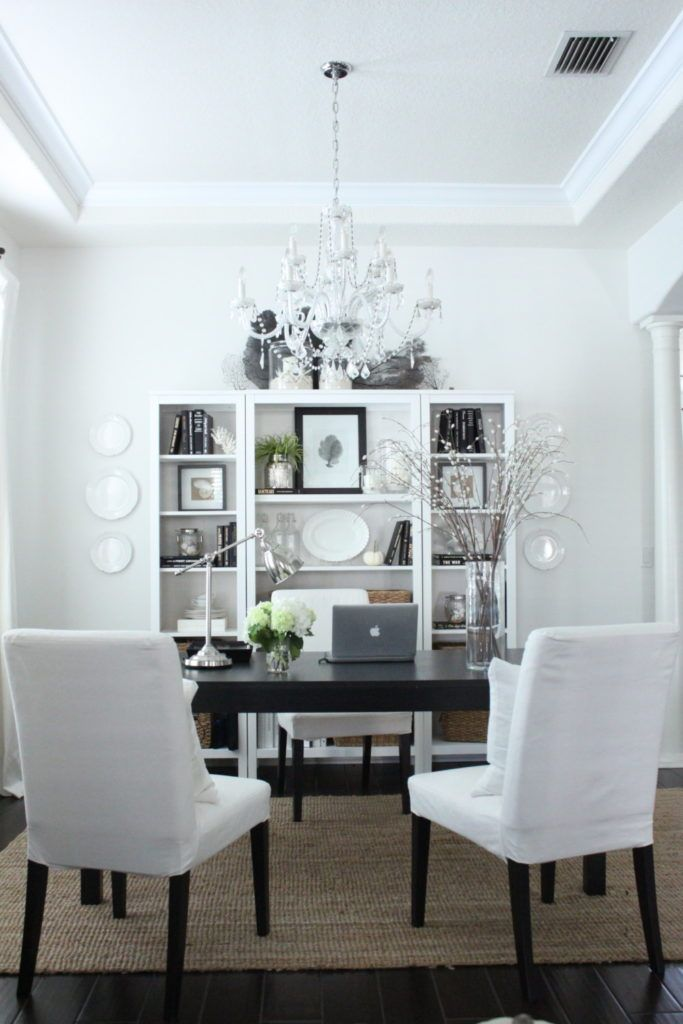 Dining Room To Dedicated Home Office Transformation Starfish Cottage Luxury Dining Room Beautiful Dining Rooms Dining Room To Office