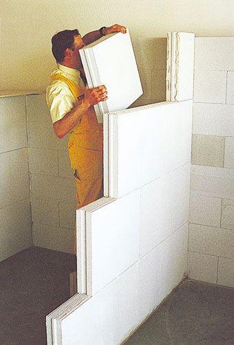 Monter votre cloison en béton cellulaire Projets à essayer - Salle De Bain En Siporex