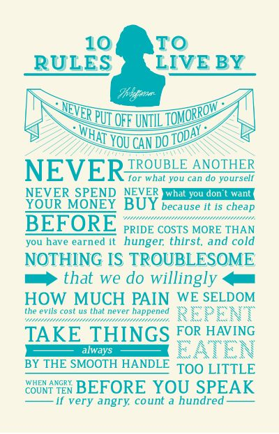 10 Rules to Live by from Thomas Jefferson
