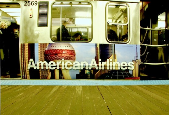 American Airlines Subway Advertising