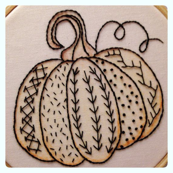 autumn greetings pumpkin sampler by lisa ferguson of mypinksugarlife on etsy 360 hand embroidery patternsembroidery stitcheshalloween - Halloween Hand Embroidery Patterns