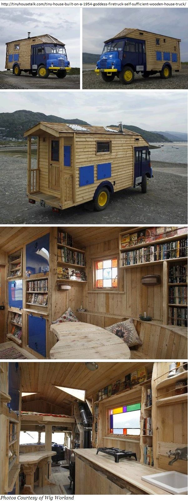 heather and ivan morison tales of space and time - wood house truck ~ Now there's an idea. I like this.
