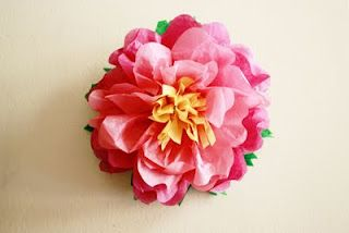 Tissue paper flowers tutorial.
