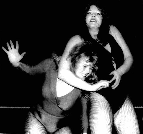 Busty lady wrestlers