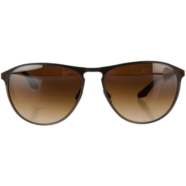 Pre-owned Barton Perreira Sunglasses ($125) ❤ liked on Polyvore featuring accessories, eyewear, sunglasses, brown, barton perreira, barton perreira sunglasses, brown sunglasses, brown glasses and barton perreira eyewear