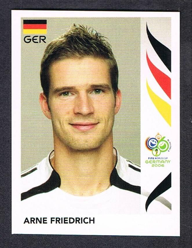#20 Arne Friedrich Panini Germany 2006 World Cup sticker