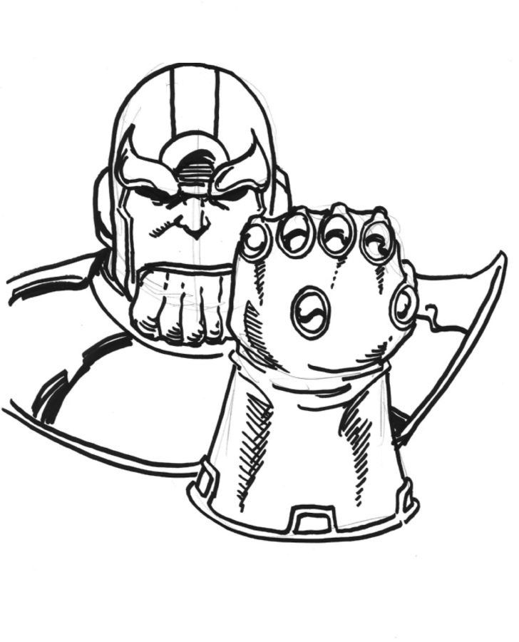 Thanos Dibujos Para Colorear Historieta Marvel Dibujos Para Colorear Páginas Para Colorear Dibujos