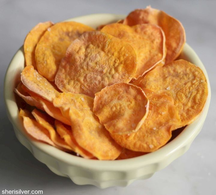 DIY sweet potato chips--made in the microwave!