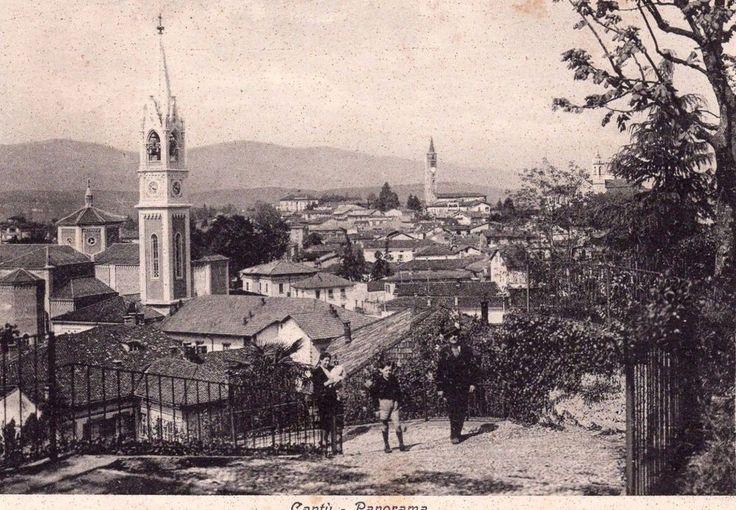 Cantù -Panorama - Cartolina animata -Viaggiata 1942