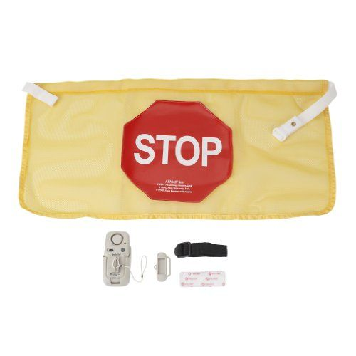 high visibility door alarm banner with activated alarm system sport injury this
