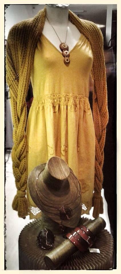 """Collana """"made in To"""" Collana e bracciale in rame  Bracciali ZSISKA Sciarpa/coprispalle Abiti in cotone — presso Neo.chiC."""