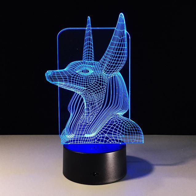Egypt Anubis 3d Illusion Lamp Anubis Egipto