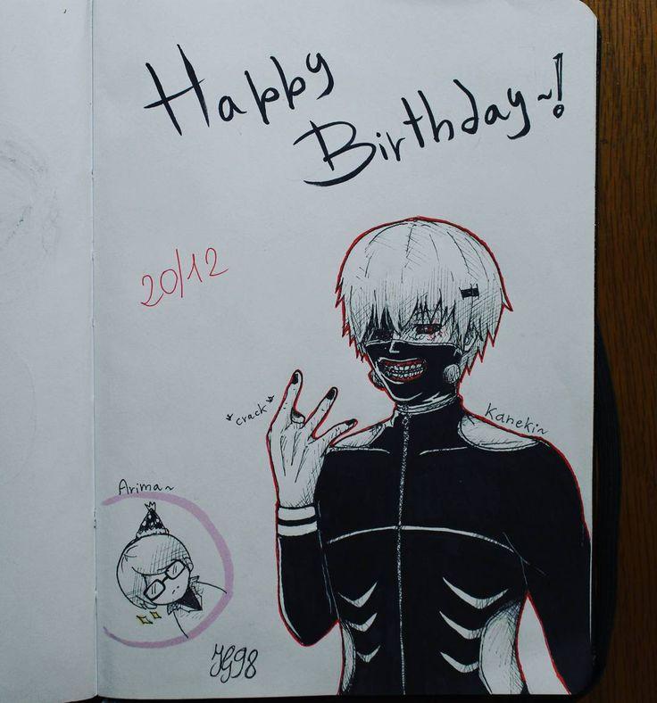 20 December  Happy Birthday to Kaneki ( and Arima)  (/A)/  [I'm so late... here where I live is already midnight of 21 Dec  ...Goodnight] #drawing #draw #art #traditionalart #fanart #ink #tokyoghoul #tokyoghoulfanart #tokyokushu #kenkaneki #kaneki #arima #arimakishou #happybirthday #instaart #mask #manga #anime #mangafanart #animeart #IperGiratina98