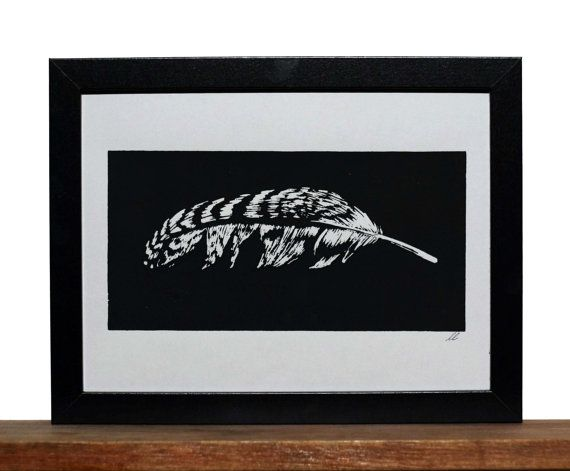 Feather by LightMyWayArt on Etsy