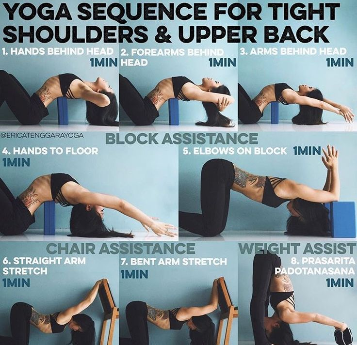 stretches for shoulder and back!