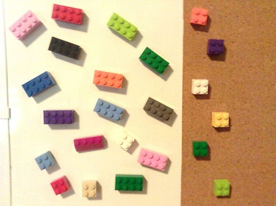 LEGO Magnets Push Pin LOT 12 Pieces School Office Favors