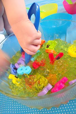 Jello-o exploration for toddlers