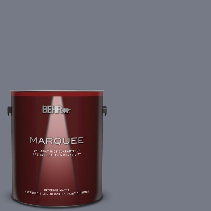 Behr Marquee 1 Gal N540 5 Infamous One Coat Hide Matte Interior Paint And Primer In One 145401 Behr Marquee Behr Marquee Paint Interior Paint