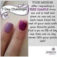 Join the sample challenge! Message me for details. www.dropthepolish.jamberrynails.net