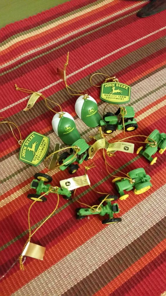 Check out this item in my Etsy shop https://www.etsy.com/listing/248288320/john-deere-green-christmas-ornaments-set
