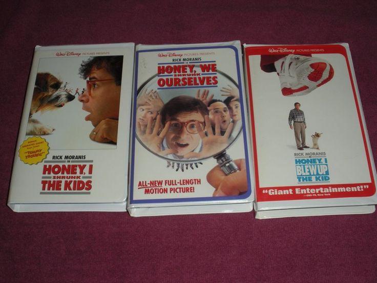 Honey, I Shrunk Trilogy~VHS~Rick Moranis~Lot of 3 Videos~DISNEY