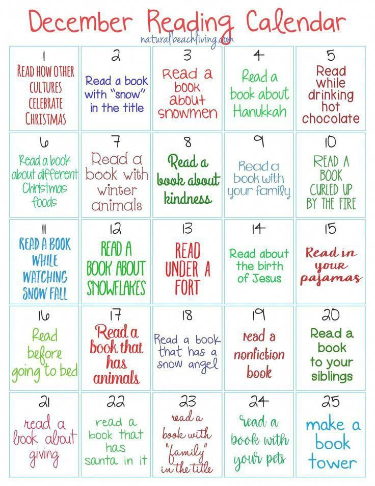 Christmas Readings 2020 The Best Christmas Reading Challenge for Kids, 25 Days of Holiday