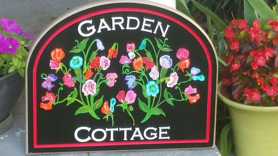 Garden Cottage Flower Sign Outdoor Porch Sign-PVC Board