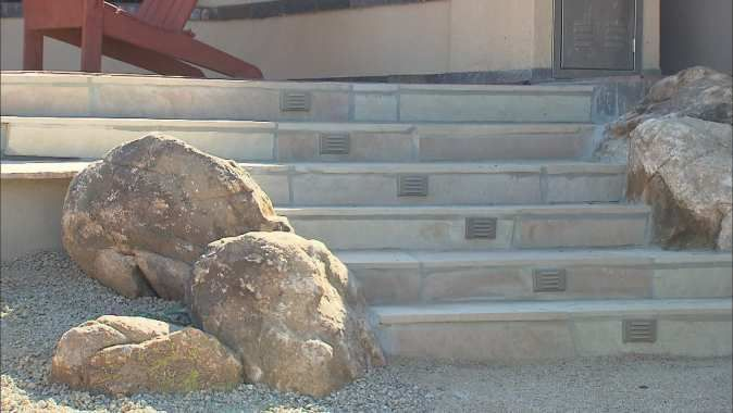 VIDEO: Learn how to install outdoor step lights in concrete. http://www.cox7.com/installing-outdoor-step-lights
