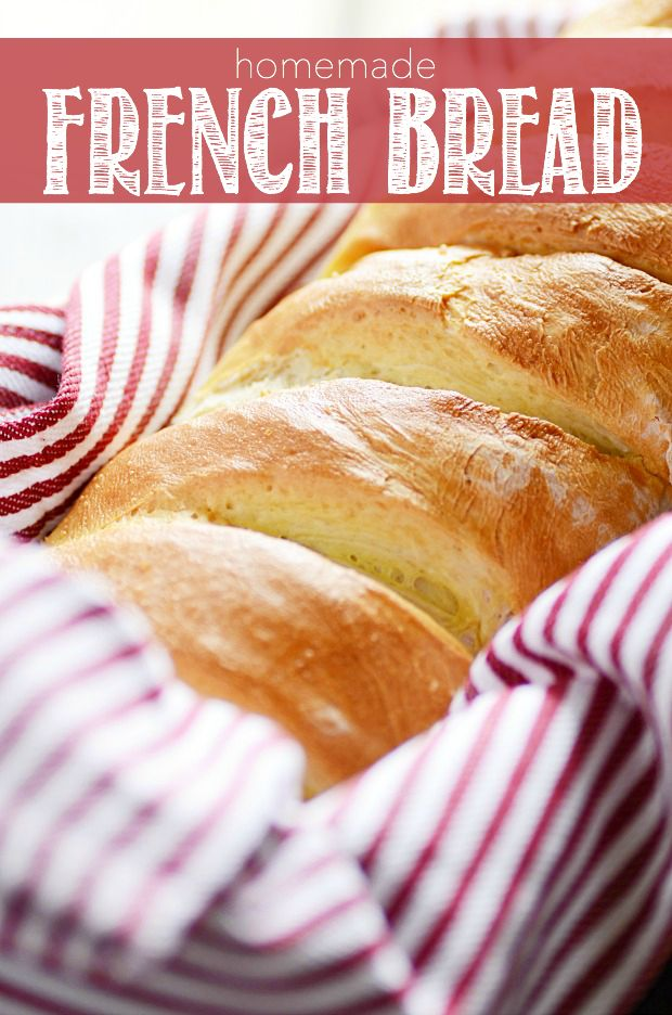 Homemade French Bread - Surprisingly easy to make! And there's nothing quite like a warm loaf fresh out of the oven.