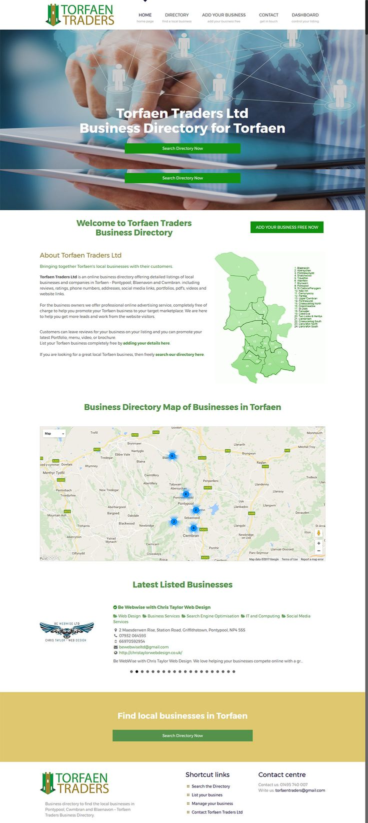 Business directory for Torfaen UK