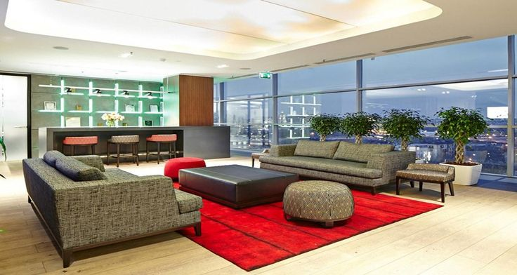 Relaxation area and collaborative space into the premises of JLL in Moscow, Russia