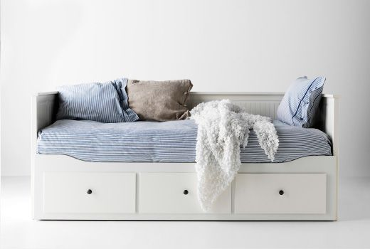 I recently tested out this day bed and was surprised at the overall comfort and versatility.  It has a small footprint but still provides a place for you and your guest to sleep, along with three very deep storage drawers.  I'm thinking about swapping out my full bed for this space-saving piece.