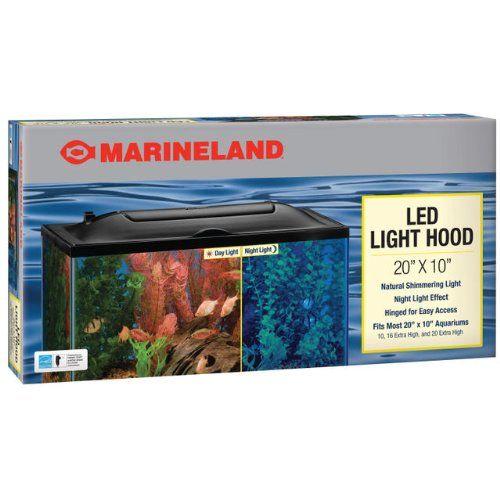 "Marineland LED Light Hood - 20"" x 10"" - ON SALE! http://www.saltwaterfish.com/product-marineland-led-light-hood-20-x-10"