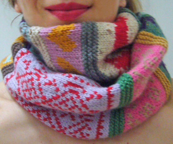 Knitting pattern Confetti Rags to Riches Scarf by SandraEterovic